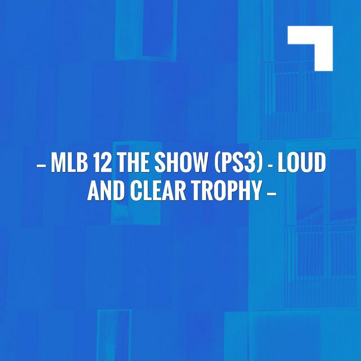 Wave hello to this awesome post! 👋 MLB 12 The Show (PS3) - Loud and Clear Trophy http://twistedslippers.blogspot.com/2017/05/mlb-12-show-ps3-loud-and-clear-trophy.html?utm_campaign=crowdfire&utm_content=crowdfire&utm_medium=social&utm_source=pinterest