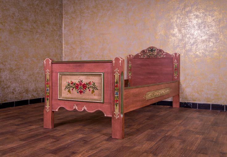 Voglauer Anno 1800 Landhaus Bett Einzelbett 90x200 100x200 1x2 Cm