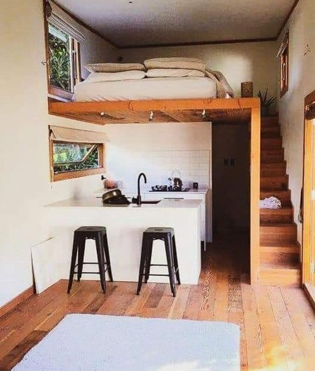 Guide To Tiny House Living Small Loft Apartments Tiny House Living Small House Design