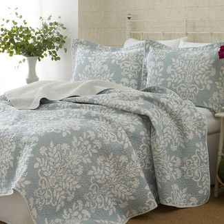 <strong>Laura Ashley Home</strong> Rowland Reversible Coverlet Set