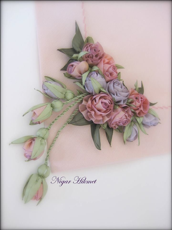 Nigar Hikmet, ribbon embroidery