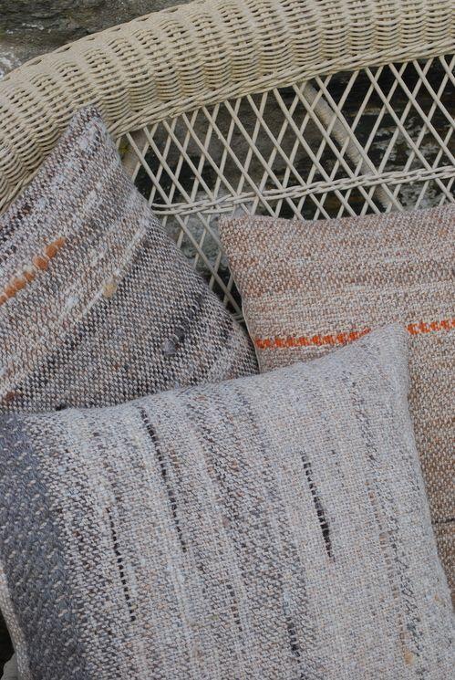 Hand woven slubby weave cushions