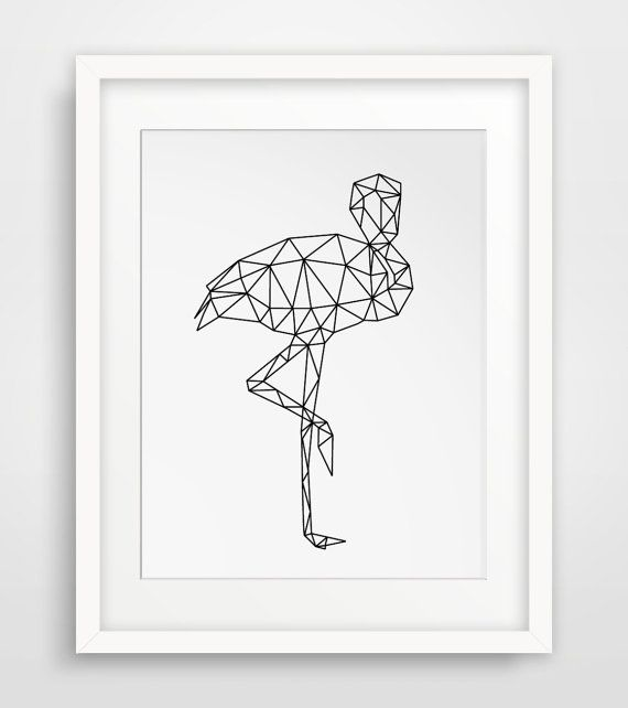 Arte Flamingo, Flamingo geometrica, stampabile fenicotteri, stampe digitali, animali geometrica, stampabile Decor, Download immediato, patinata stampabile