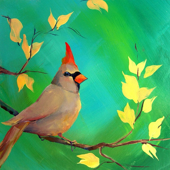Painting Cardinals In Acrylic