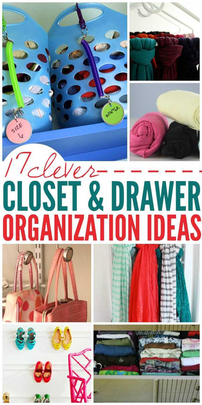 17 Clever Ideas to Organize Closets and Drawers - One Crazy House