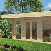 Garden Office Log Cabin - Yorick 5x3.8m