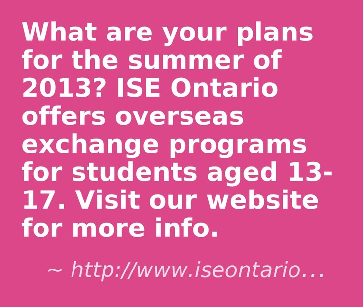 Summer exchange programs for Ontario youth