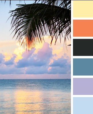 These tropical colors would be amazing in a bathroom, or maybe a pool house: