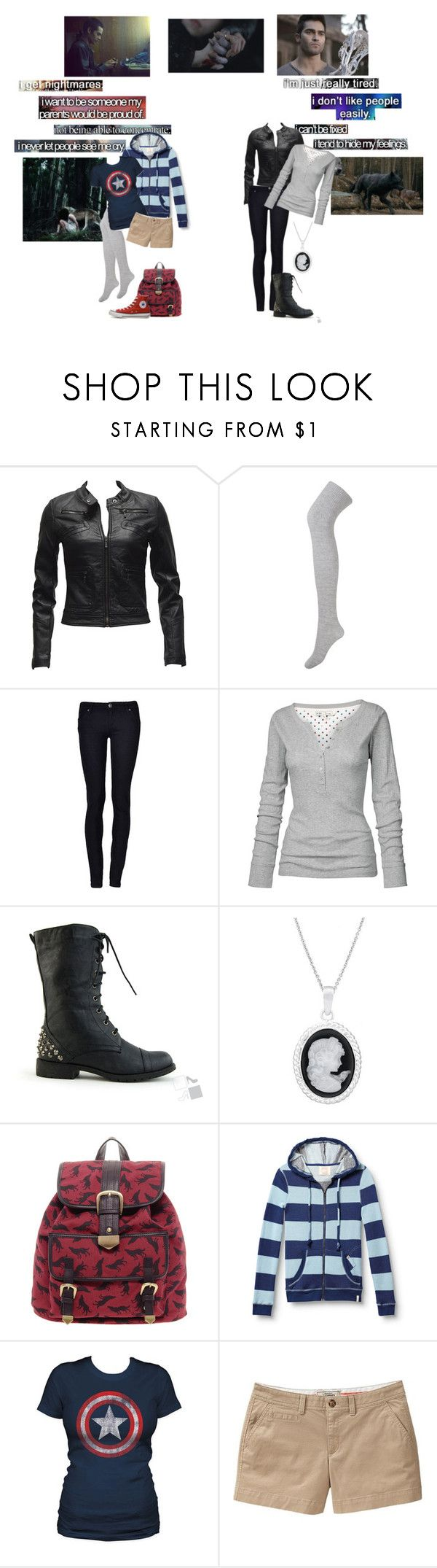 """Teen Wolf - I'm fine"" by majestaet ❤ liked on Polyvore featuring Tremp, Forever 21, Fat Face, ASOS, Quiksilver, Marvel Comics, Old Navy, Converse, Wolf & Man and werewolf"