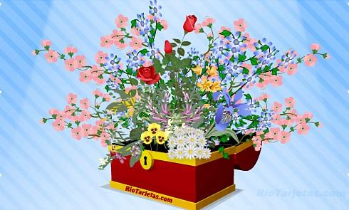 Flores Animadas Rosas Animadas Rio Tarjetas Flores Animadas Gratis