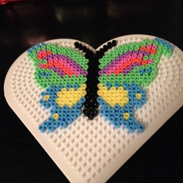Butterfly hama perler beads by niiraz