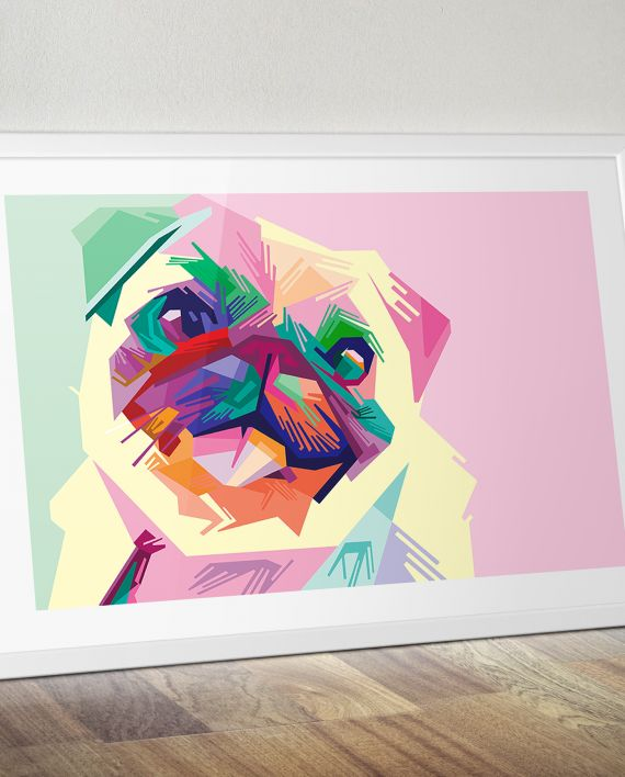 Pop Art your pet! Hand painted canvas of our Pop Art Pug. This Pug painting is available to commission as a hand painted canvas or buy as a canvas print. We can pop art your own pet too. visit our website for more or to commission your own painting at www.handpaintme.com #popart #portraits #handpainted #art #canvas #wallart #interiors #canvasprints #commissionaportrait #portraitartists #artists #corporateart #petportraits #gifts #designgifts #funkygifts #popartshop #pugs #pug #puglove