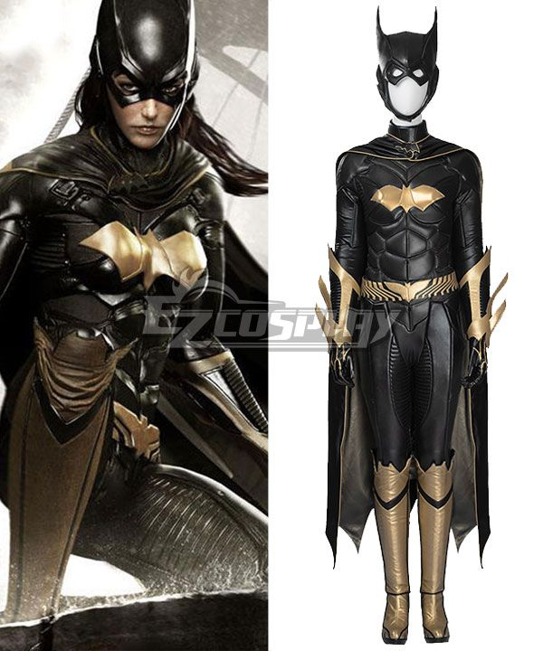 DC Batman Arkham Knight Batgirl Katherine Kathy Kane Cosplay Costume(Including Boots)