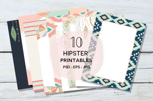 10 Hipster Printables Suite by Pixejoo on Creative Market