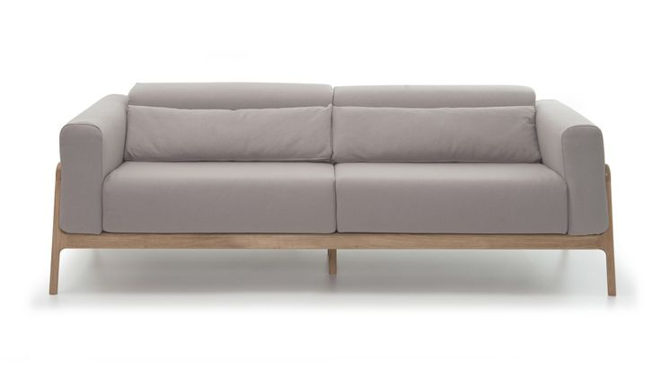 Fawn Large Sofa - oak frame
