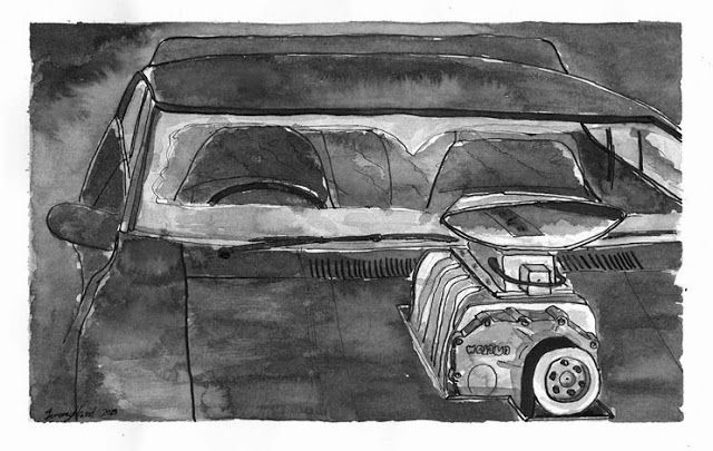 Searching For Style: The Interceptor Ink wash on cartridge paper.  Rec...