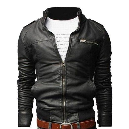 Vintage Ringspun Black Leather Mens Jacket Medium Size Real Leather Body Fitting XzDzaEL5TE
