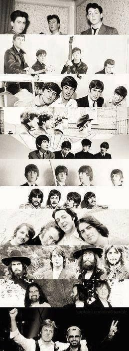Beatles through the years.