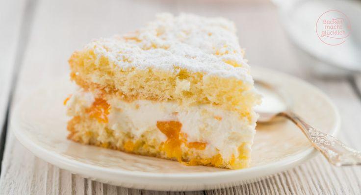 Lust auf eine köstliche Käse-Sahne-Torte mit Mandarinen und Quark? Dieses klassische, einfache Käsesahnetorten-Rezept ist sehr beliebt!