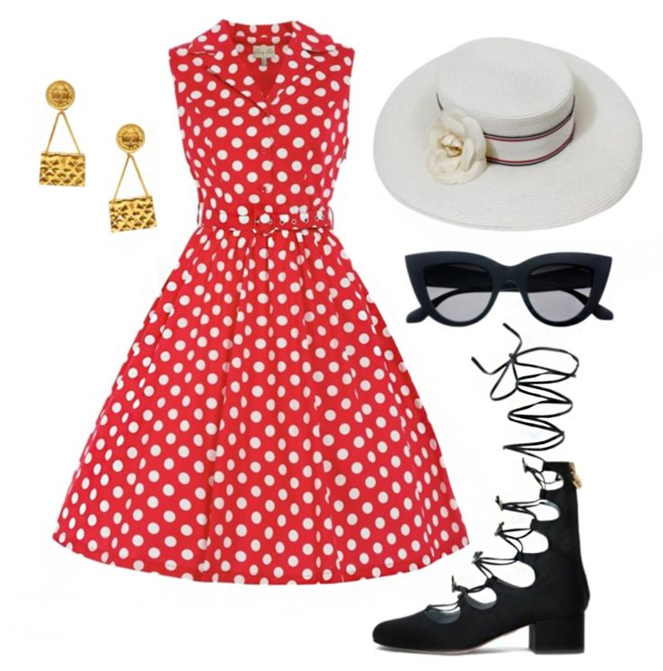 Outfits inspired by Disneyland's opening day | vintage fashion | [ https://style.disney.com/fashion/2016/07/17/style-inspired-by-disneyland-opening-day/ ]