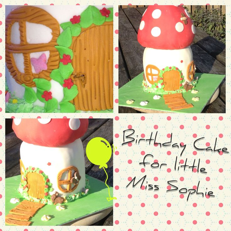 Birthday cake for little Miss Sophie.  She was delighted and some kids at the party tried to open the door.