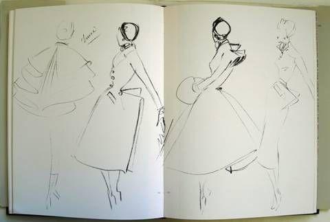 Christian Dior Sketches | INSPIRATION: The Elegance of Christian Dior
