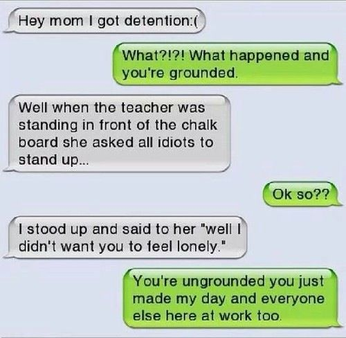 Funny Quotes To Send To Your Friends: Funniest Text Between Parents And Child
