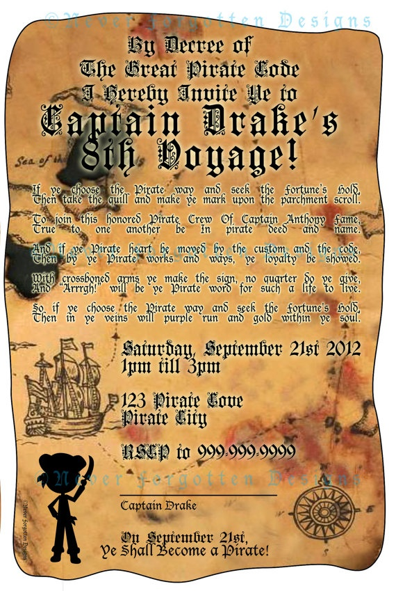 35 best pirate party images on Pinterest | Birthday party ideas ...