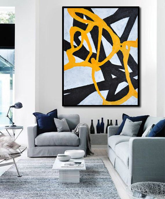 Oil Painting Large Abstract Art Hand Painted by FabuArtDecor