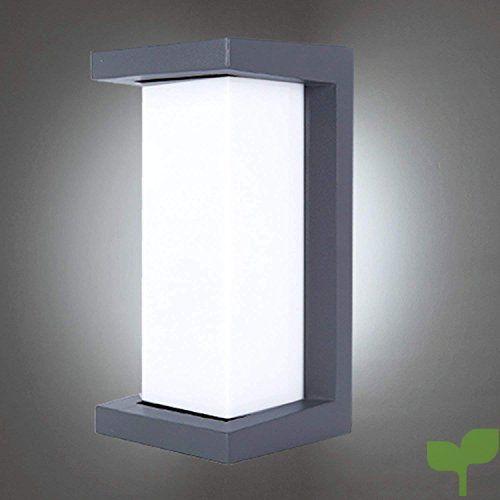 Glighone Aplique De Pared Lampara De Pared Led 10w Aplique Moderna Luz De Puro Aluminio Imper Lampara De Pared Apliques De Pared Iluminacion De Exterior