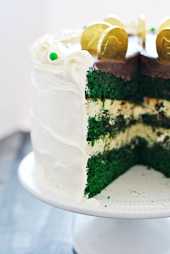 ... Velvet Cheesecake, Sweets Tooth, St Patricks, Velvet Cake, Green