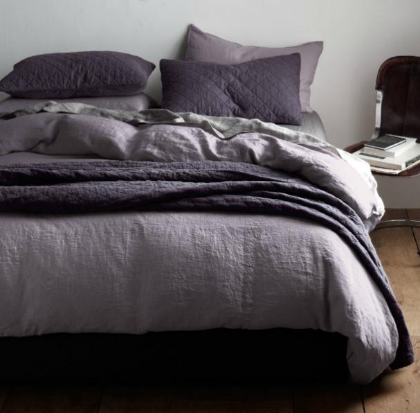 purple grey bedding pinterest. Black Bedroom Furniture Sets. Home Design Ideas