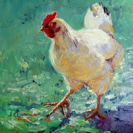 Red Rooster Painting