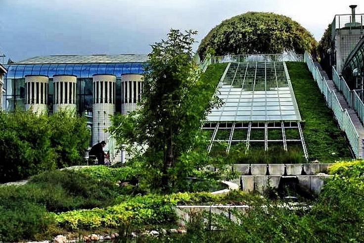 OMG yessssss.   Warsaw University Library Roof Garden