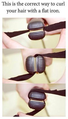 This is the correct way to curl your hair with a flat iron. #curlshorthair This will give you nice, beachy waves.