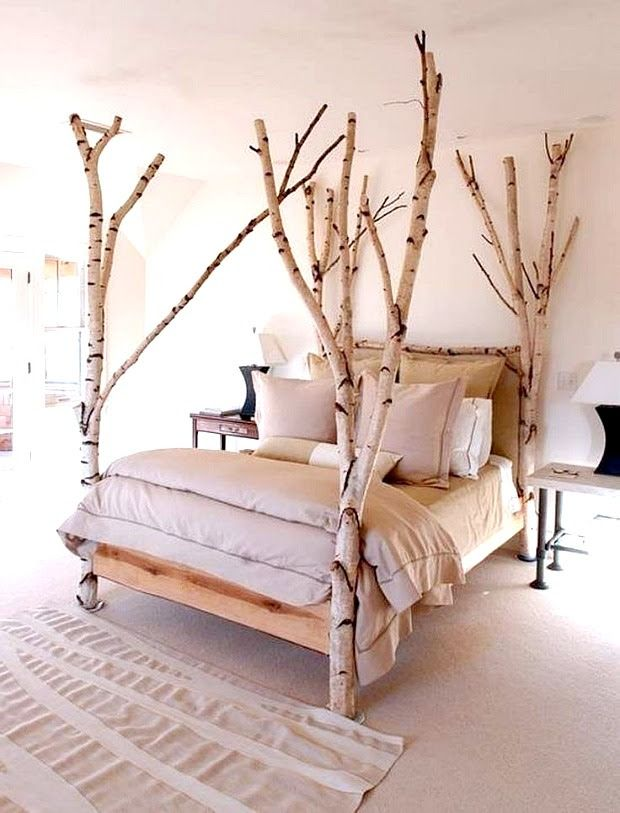 Birch Wood Bed -  sandandsisal.com