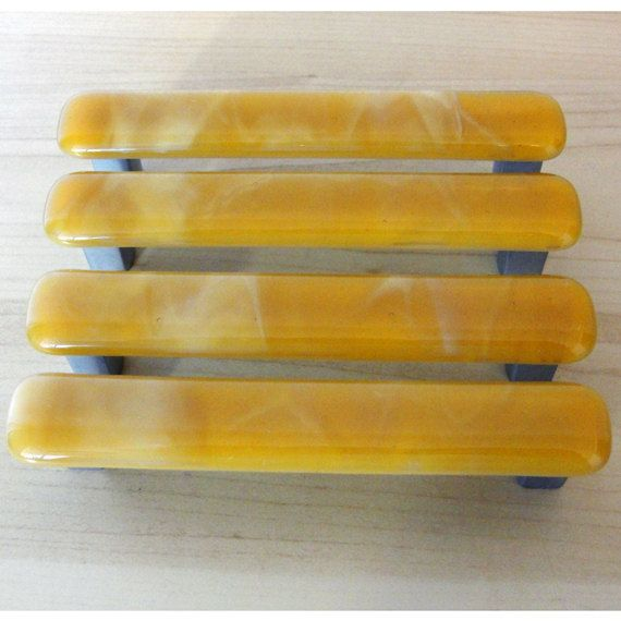 fused glass drawer pull cabinet pulls amber white home by sljglass