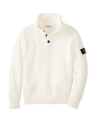 30% OFF Stone Island Kid's Polo Sweater (Chalk)