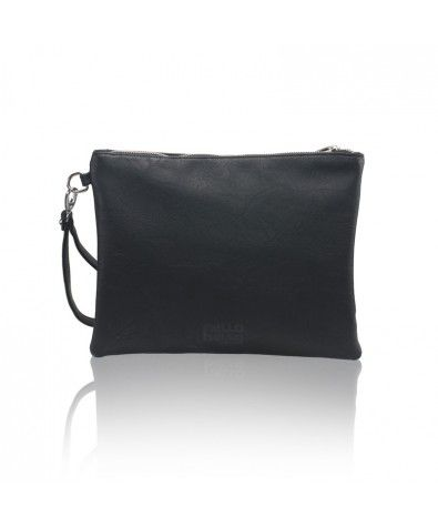 The Maia Black is Nella Bella's carry-all pouch that is perfect for less-is-more wardrobes and events. Large zippered top, lined interior with zippered inside pocket, this little pouch also comes with a removable wristlet.