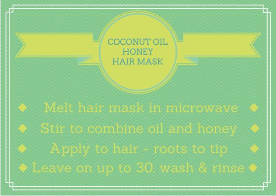 Coconut oil and honey combine to make a mask that your hair won't soon forget. The richness of the coconut oil, combined with the antibacterial nature of the honey give this a consistency that feels amazing while applying it, and leaves your hair feeling amazing.