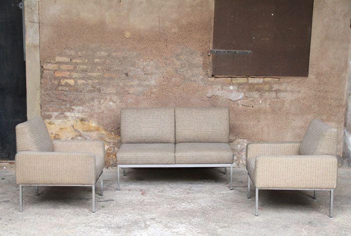 Ensemble canapés & fauteuils esprit Knoll - Design années 70