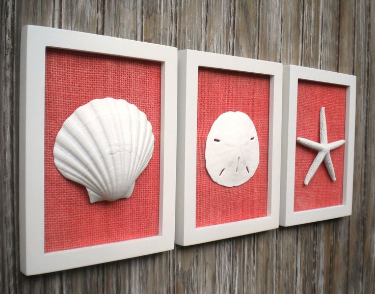 Ensemble Chic chalet de plage Wall Art par OMearasCottageCharm