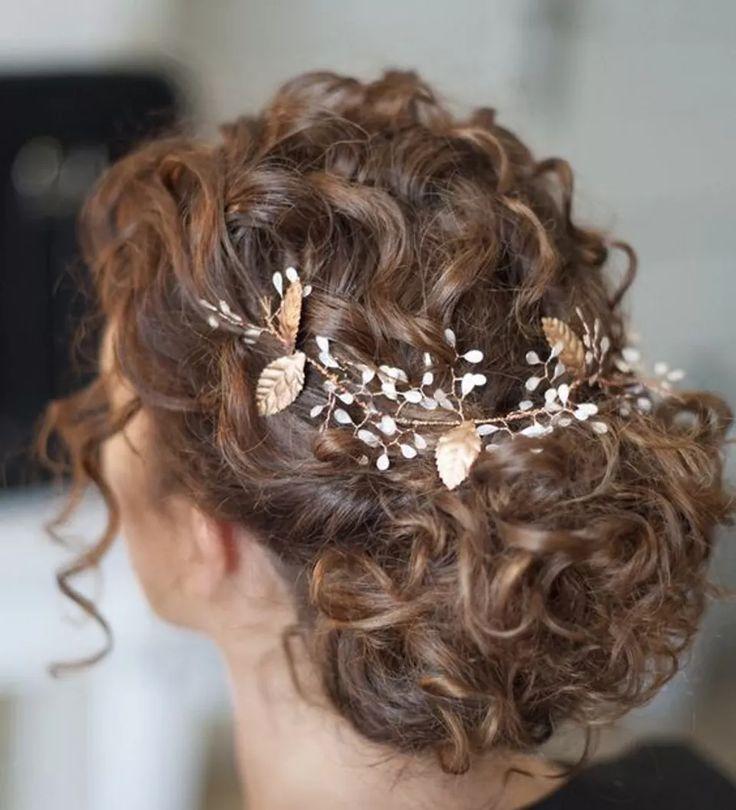 Explicación peinados pelo rizado diario Galeria De Cortes De Cabello Estilo - ¡Sí, quiero! 30 recogidos de novia para pelo rizado que ...