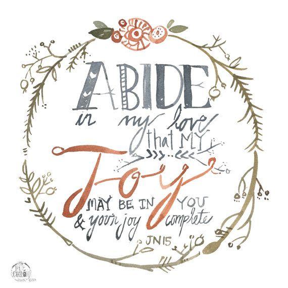 Abide in My Love John 15 PRINT