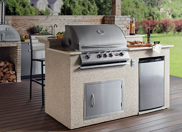 Get An Urban Lifestyle With Outdoor Kitchen Outdoor Kitchens The Home Depot Outdoor Kitchen Countertops Outdoor Kitchen Design Outdoor Kitchen