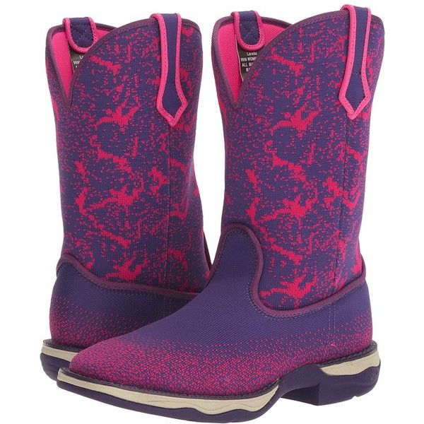 Laredo Berry (Purple) Cowboy Boots ($137) ❤ liked on Polyvore featuring shoes, boots, ankle boots, purple western boots, western boots, platform ankle boots, cowboy boots and purple ankle boots