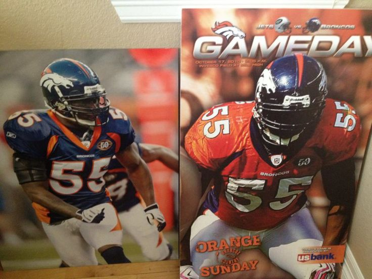 Dj made the front page of the broncos game day magazine