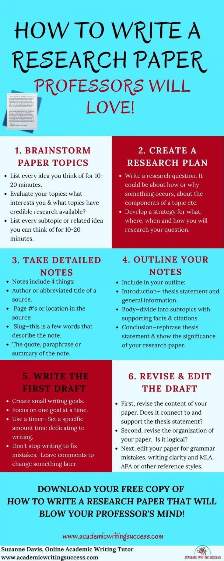 How To Write A Research Paper Step By Step Academic Writing College Writing Research Paper