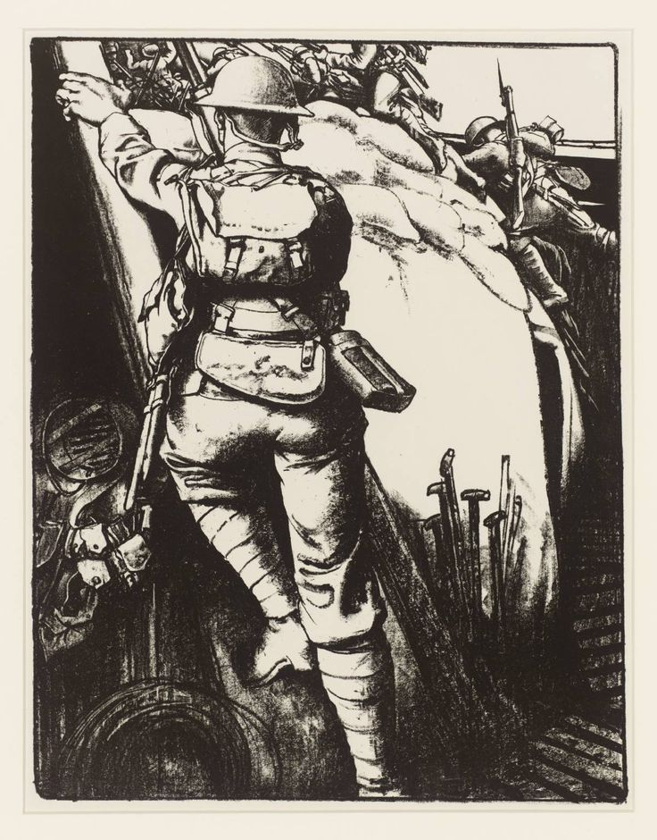 Eric Kennington 'Making Soldiers: Over the Top', c.1917