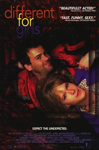 Different for Girls (1996) | http://www.getgrandmovies.top/movies/33866-different-for-girls | Karl Foyle and Paul Prentice were best mates at school in the Seventies. But when they meet again in present-day London things are definitely not the same. Karl is now Kim, a transsexual, and she has no desire to stir up the past while she's busy forging a neat and orderly new life. Prentice, on the other hand, has charm but is a social disaster stuck in a dead-end job. His main talent is for…
